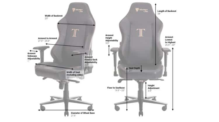 Gaming Chair Height and Weight